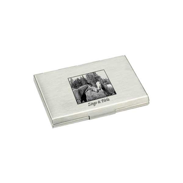 Korthållare med fotogravyr