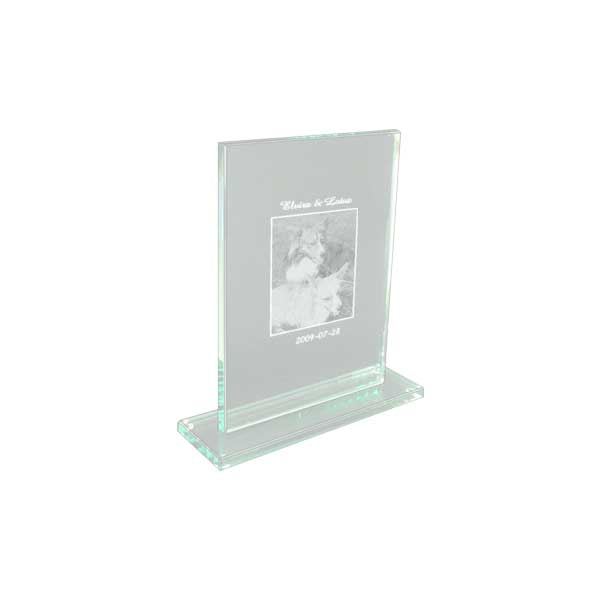Plakett Glas med fotogravyr